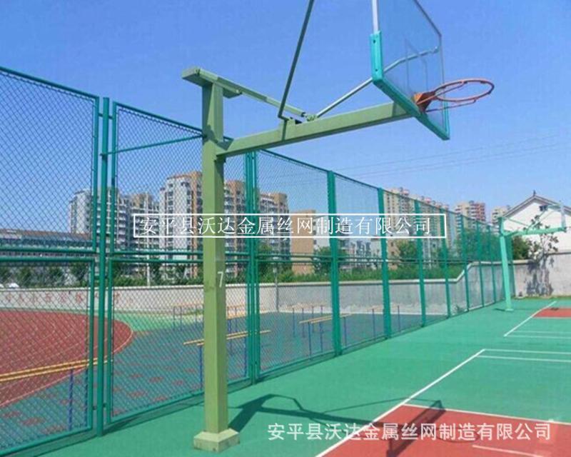 優質籃球場學校護欄網 學校wq運動場圍網 包塑圍牆護網廠家
