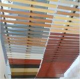 仿木紋色U型鋁方通酒店翻新改造吊頂天花現貨供應