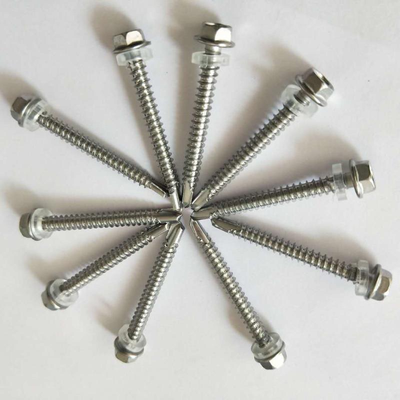 410不鏽鋼外六角鑽尾螺釘/門窗螺絲燕尾螺絲釘自鑽自攻鑽尾螺絲