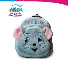 新品库存厂家**可爱动物老鼠小书包男孩女孩毛绒玩具书包儿童背包