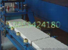 珍珠岩防火门芯板双面贴布机设备生产全过程