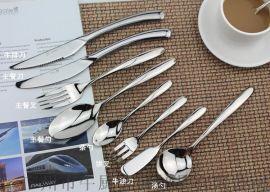 不鏽鋼西餐食具刀叉勺三件套裝刀叉304兒童勺子加厚叉子餐勺德國