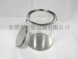 PVC胶罐 环保食品级PET马口铁罐圆桶