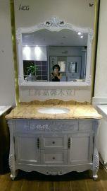 **北美红橡木浴室柜