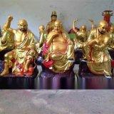 鍍金1.6米歡喜羅漢喜樂羅漢神像 廠家直銷