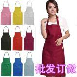 挂脖围裙厨房家用美甲围裙咖啡店定制服务员工作围裙
