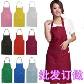 掛脖圍裙廚房家用美甲圍裙咖啡店定制服務員工作圍裙