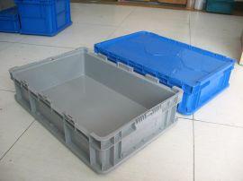 供应欧标汽车物料塑料周转箱带盖