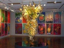 玻璃雕塑  玻璃灯饰 吊灯等产品定制
