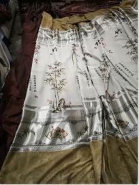 17新款库存窗帘遮光布印花