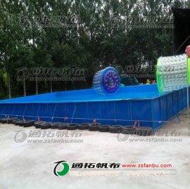绿色环保养殖帆布鱼池加工_刀刮布蓄水池_农业储水帆布池