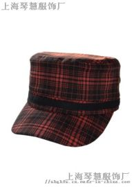 军帽平顶帽子上海实体工厂