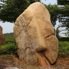 大型景观石批发、刻字园林石、刻字黄蜡石