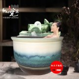 龍達溫泉泡澡缸 定做 青花洗浴大缸
