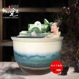龙达温泉泡澡缸 定做 青花洗浴大缸