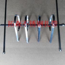 北京 上海拓森不锈钢扎带 金属扎带厂家直销8*500船用 电力电缆
