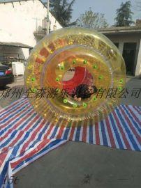 儿童充气水上滚筒球/新款水上步行球儿童水上乐园