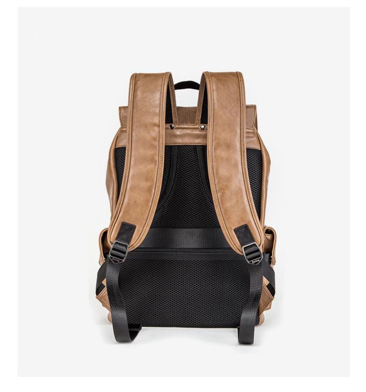 工厂定制男双肩背包 pu书包 箱包礼品定制 来图打样