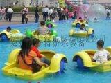河南儿童充气水池加上手摇船双剑合璧