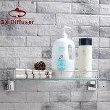 浴室單層置物架304不鏽鋼壁掛鋼化玻璃化妝臺衛生間收納架衛浴五金掛件加厚廠家直銷