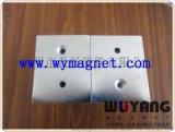 厂家  方形打孔磁钢,仪表信器  高强力永磁铁