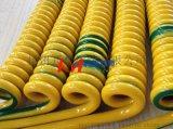 开美 双色接地线 3芯1平方螺旋电缆