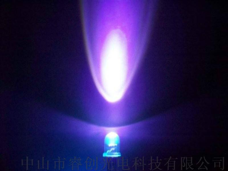 5mm圆头紫光LED,375nm紫光LED灯珠