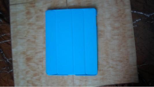 韓版休閒系藍色ipad皮套 (55-321)
