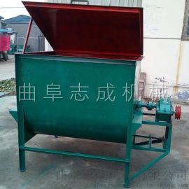 厂家直销卧式饲料搅拌机草料混合搅拌机猪场拌料机