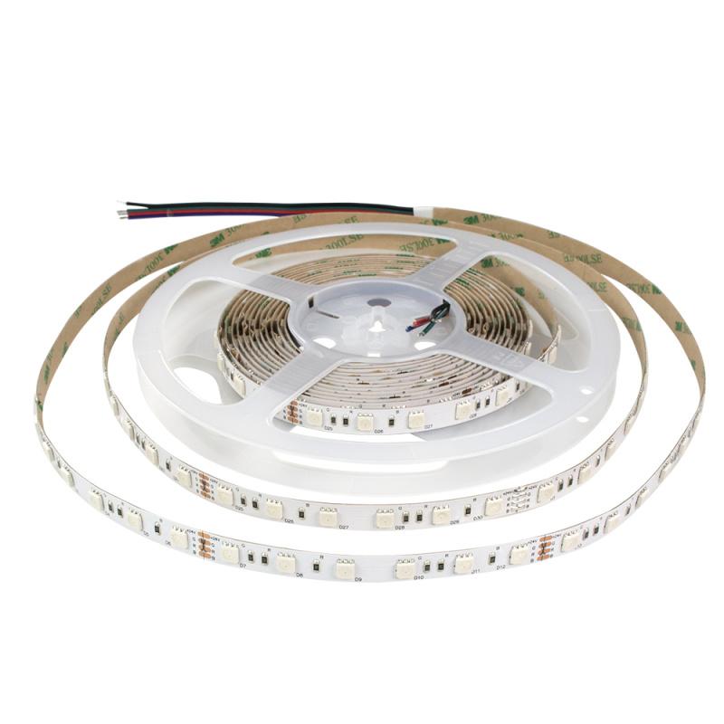 厂家直销 LED灯带5050 60灯 RGB DC24V 软灯条