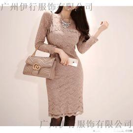 艾唯都上海折扣女装批发折扣女装 品牌衣服怎么进货尾货藏蓝色衬衫