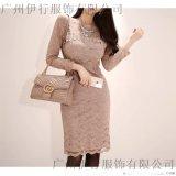 艾唯都上海折扣女裝批發折扣女裝 品牌衣服怎麼進貨尾貨藏藍色襯衫