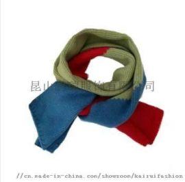 成人打条保暖针织棉晴围巾