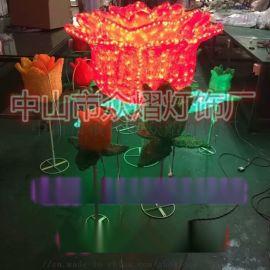 凤凰LED图案灯 路灯杆装饰灯 春节亮化灯