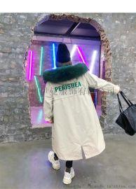 超大毛领 雪罗拉 19长款羽绒服反季促销 淘宝直播