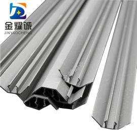 净化工程配件与铝合金内圆弧配套PVC塑料条塑料底座