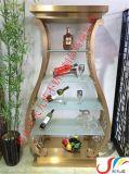 香港铜锣湾餐厅高档欧式不锈钢酒柜,澳门别墅酒窖钛金不锈钢酒架