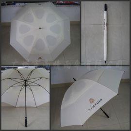 高尔夫雨伞双层双骨架抗风大伞高尔夫球场专用