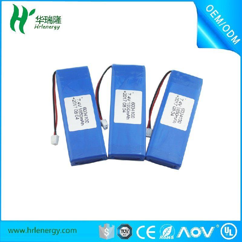 聚合物7.4V鋰電池廠家 6034100鋰電池
