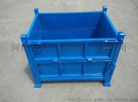 河南郑州恒川货架厂折叠堆垛箱铁皮箱周转箱生产厂家