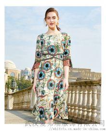 品牌服装拿货价是几折沭兰桑蚕丝系带公主裙
