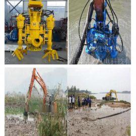液压泥沙泵 挖掘机携带耐磨砂浆泵 快速抽沙流量大