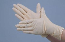 防静电9寸PVC手套(M)