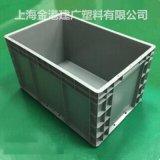 供应  塑料周转箱   600*400*340 塑胶物流箱  加强筋塑料箱