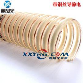 2寸51mm防静电吸尘管, 带铜丝排静电导电 食品卫生级pu耐磨软管