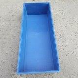 供應HDPE塑料週轉箱 現貨標準尺寸長方形藍色塑料週轉盤收納箱