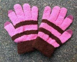 针织触屏手套(半边绒)