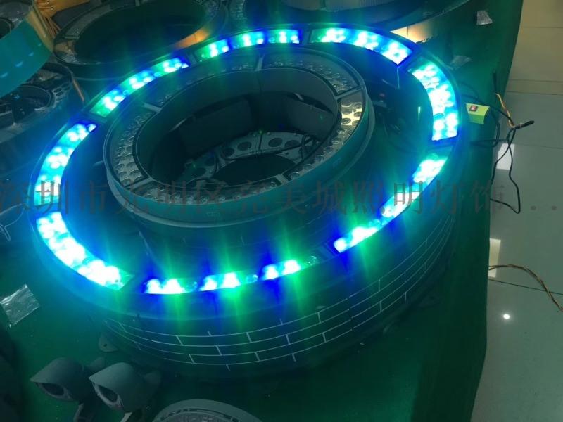 LED投射灯18W投光灯插地照树灯庭院灯地插草坪灯