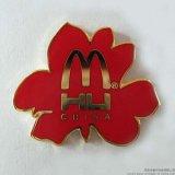 厂家订做抽象金属珐琅镀金胸章、徽章