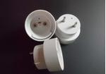 厂家直供LED日光灯T10台阶灯头配件/T10堵头/pc灯管端盖